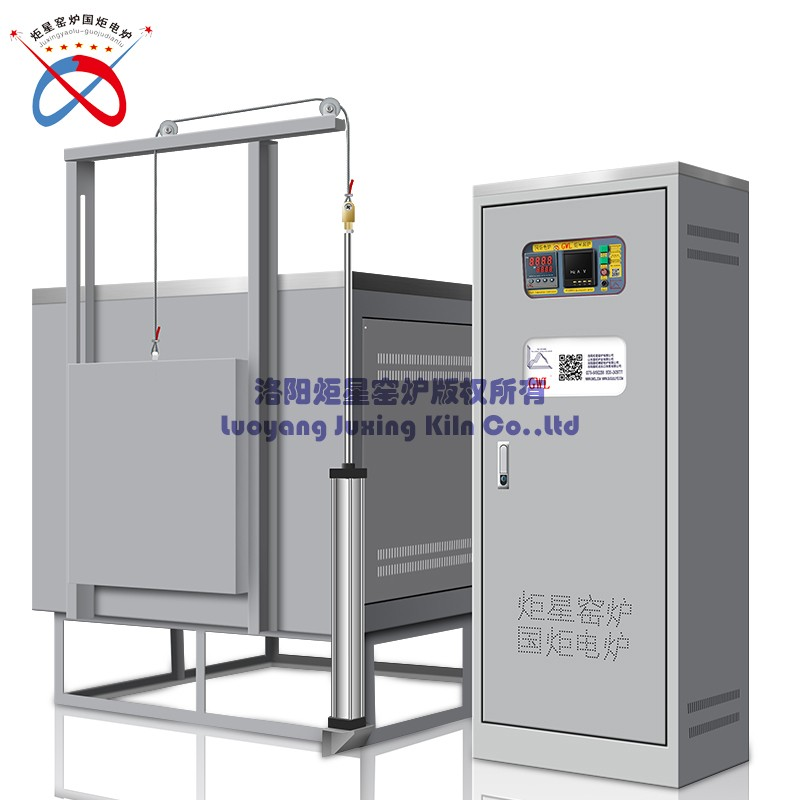 Large-scale high-temperature air cylinder lift muffle furnace
